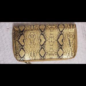 Marc Jacobs Golden Snake Embossed ZipAroundWallet
